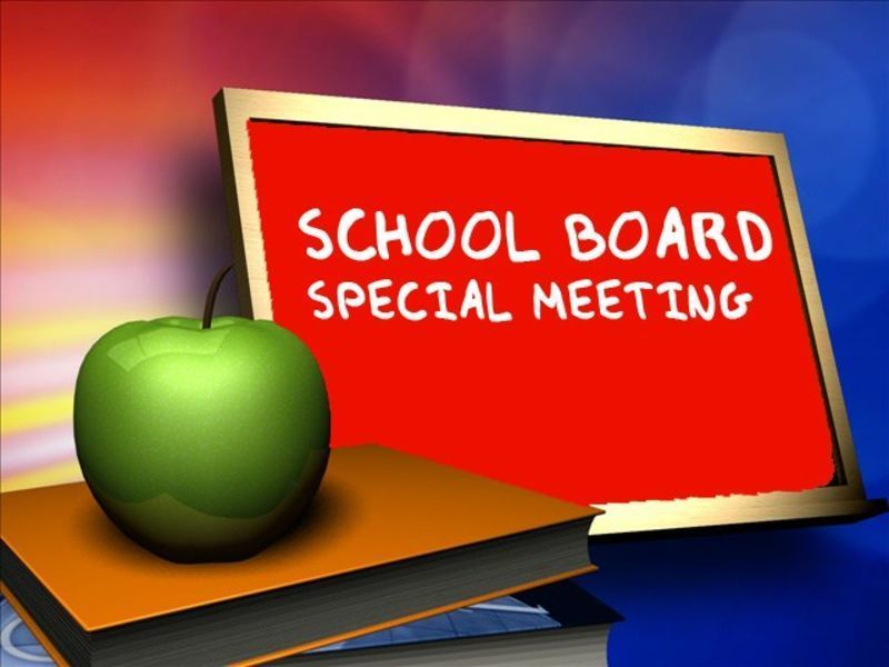 Special School Board Meeting 10/7/2020