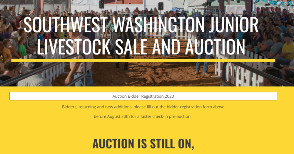 Support Local Junior Famers - Livestock Sale 8/22